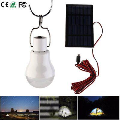 AKKU LED Camping Lampe Solar-Panel Outdoor Laterne Gartenleuchte Zeltlampe EEK A