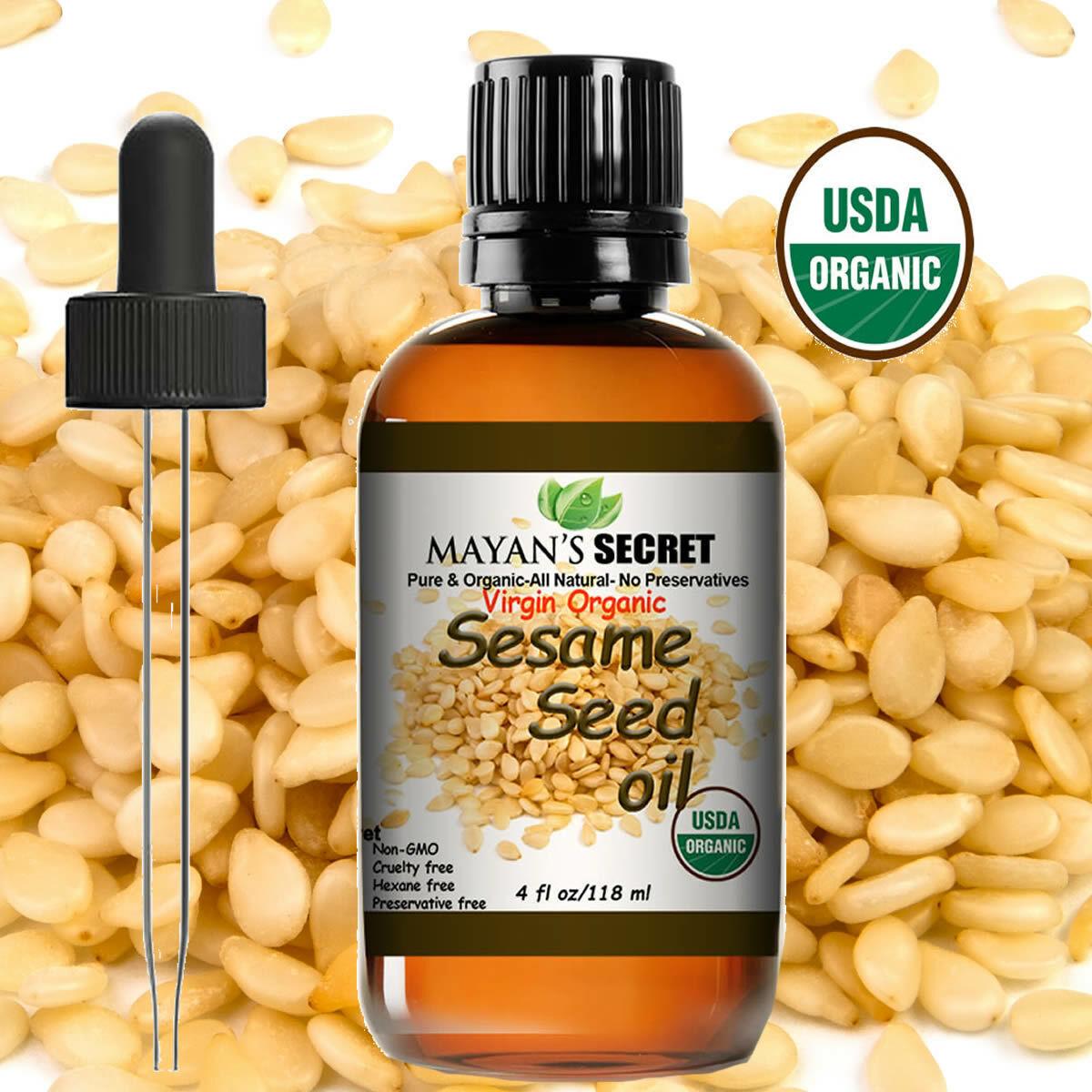 UDSA Certified Organic Sesame Seed Oil Cold Pressed Unrefined  4oz Health & Beauty