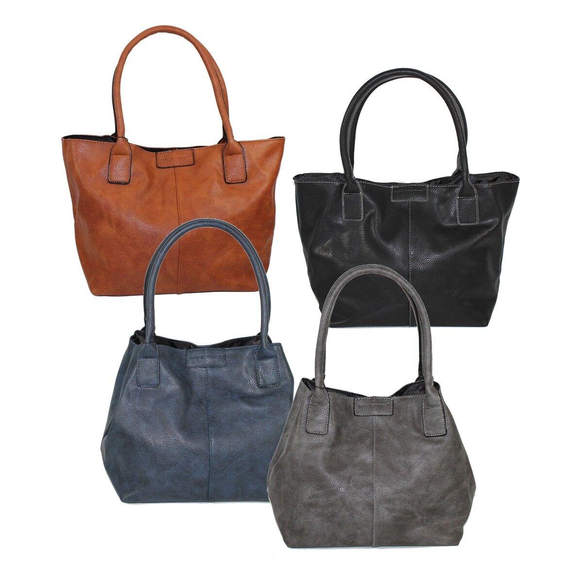 72790077783fc Bag Street Shopper Handtasche Damentasche groß 2 Trage-Varianten Tote Bag  BS0