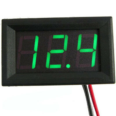Us Stock Mini Green Led Digital Panel Amp Meter Gauge 50a Dc Shunt