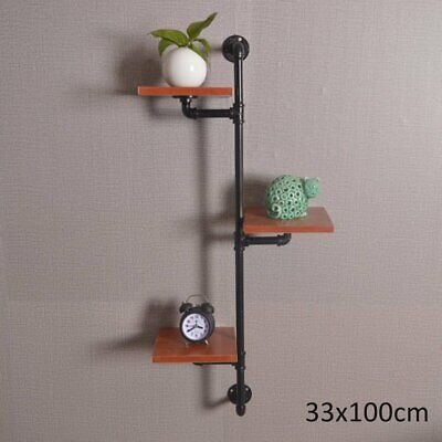 industrial Vintage Iron Pipe Wall Shelf Bookshelf Storage Organizer Holder  US! Bookcases & Shelving