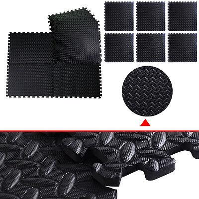 GOPLUS 48 Sq Ft EVA Foam Floor Interlocking Mat Show Floor Gym Mat Black New2016