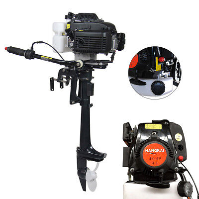 4 Stroke 4 HP Outboard Motor With Air Cooling System 44CC Boat Engine New