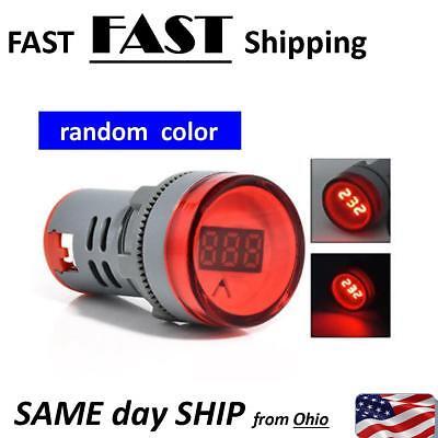 Digital Mini Led Display Voltmeter Ac 60-500v Voltage Meter Monitor Random Color