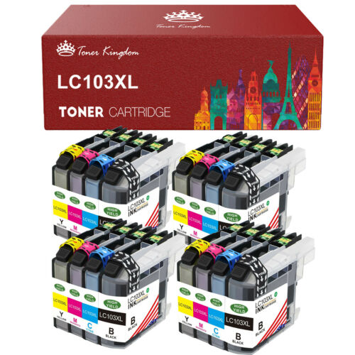 16 Pack Ink + chip fits Brother LC101 LC103 MFC J470DW