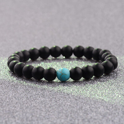 8mm Natural Stone Turquoise Beads Fashion Bracelets Distance Valentines Gifts