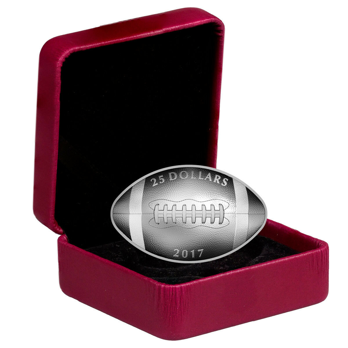 2017 Canada 25 1 Oz Proof Silver Football Shaped Coin