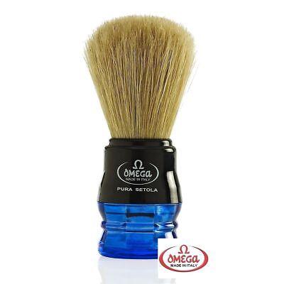 - OMEGA PROFESSIONAL PURE BRISTLE SHAVING BRUSH Wet Lather Soap Cream Shave Men