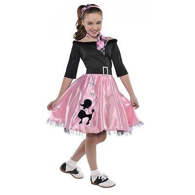 Poodle Dress Costume (Poodle Dress Kids 50s Sock Hop Costume Halloween Fancy)