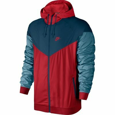 831861-408 Nike Men/'s Woven MICABL//ELCT//LM Windrunner Hooded Jacket Sizes L/&XL