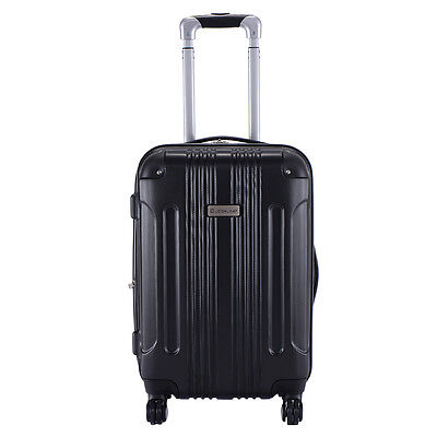 """Expandable 20"""" ABS Carry On Luggage Travel Bag Trolley Hard"""