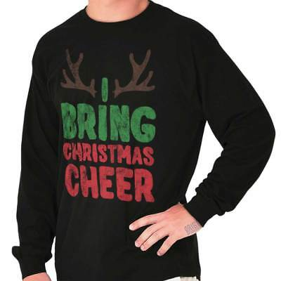 Bring Cheer Reindeer Ugly Christmas Sweater Funny Gift Ideas Long Sleeve Tee](Cheer Gift Ideas)