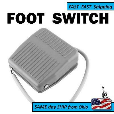 Foot Switch New Electric Power Spdt Tfs-201 Pedal Momentary Control