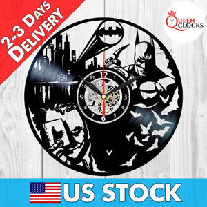 Batman Vinyl Clock Joker Arkham Origins DC Comics Record Wall Best Gift Decor !
