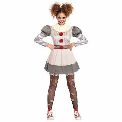 Creepy Clown - Female IT Pennywise - Adult Costume - It Clown Costumes