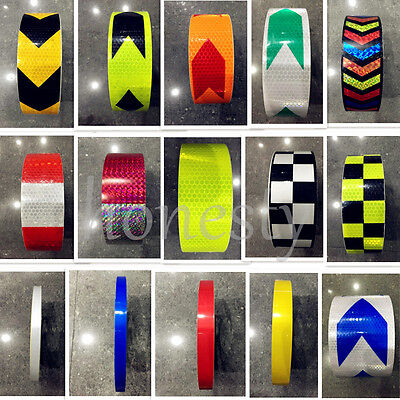 30cm3m5m Reflective Safety Warning Conspicuity Tape Film Sticker Multicolor