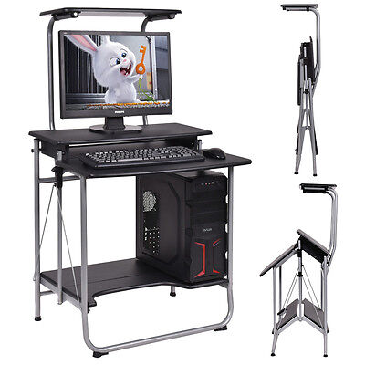 Folding Computer Desk Laptop PC Offer Workstation Swatting Scribble literary works Home Commission New