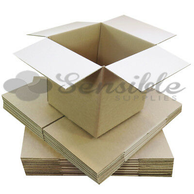 5 x SINGLE WALL SMALL PARCEL MAILING STORAGE MOVING CARDBOARD BOXES 4x4x4