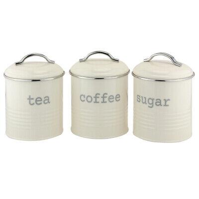 Apolo Conjunto De 3 Redondo Botes, Crema Y Cromo Azúcar de Café...