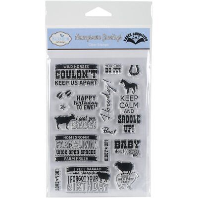Elizabeth Craft Designs - Home Grown Greetings - Cling Rubber Stamp CS002