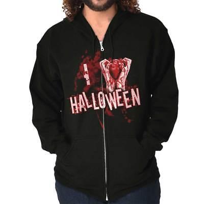 I Heart Halloween Spooky Scary Trick Treat Vampire Cool Cute Zip Hoodie