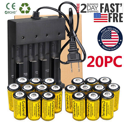 20x CR123A 3.7V Li-Ion Rechargeable Batteries for Netgear Ar