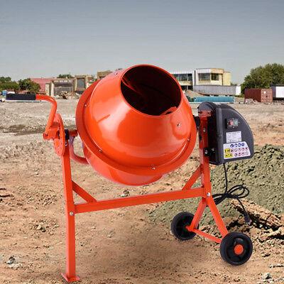 Portable Electric Cement Mixer Concrete Motar 2-15cuft Drum Construction