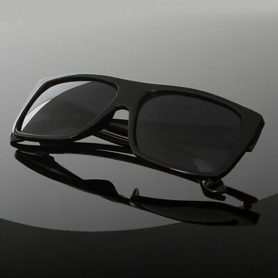 Black Lens Frame Mens Celebrity Eyewear Flat Top Rectangular Fashion (Mens Celebrity Fashion)