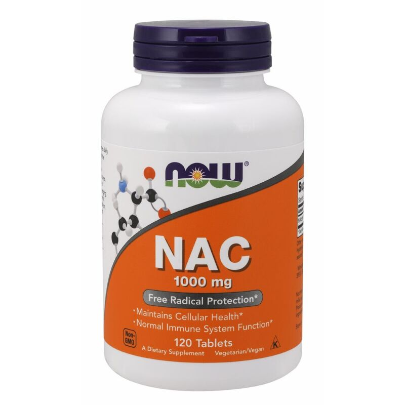 Now Foods NAC 1000 mg - 120 Tablets FRESH, FREE SHIPPING, MADE IN USA