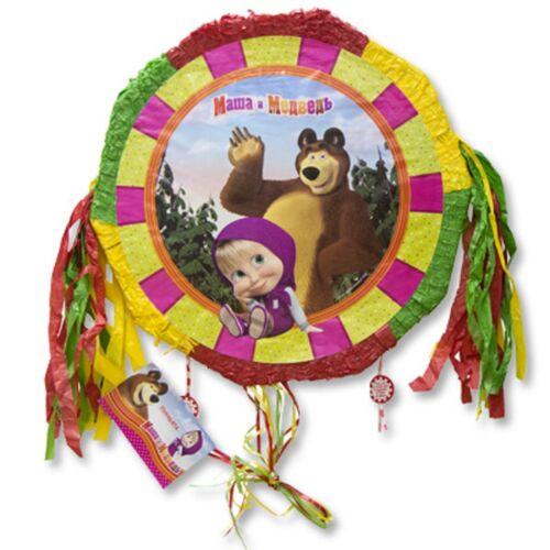 Pinatas Masha and the Bear with ribbons Party Table Party Treats Supplies Favors