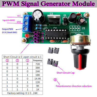 Signal Generator Pwm Pulse Frequency Duty Cycle Adjustable Module Dc12v 24v 36v