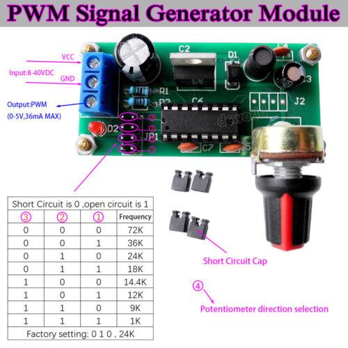 Signal Generator PWM Pulse Frequency Duty Cycle Adjustable Module DC12V 24V 36V