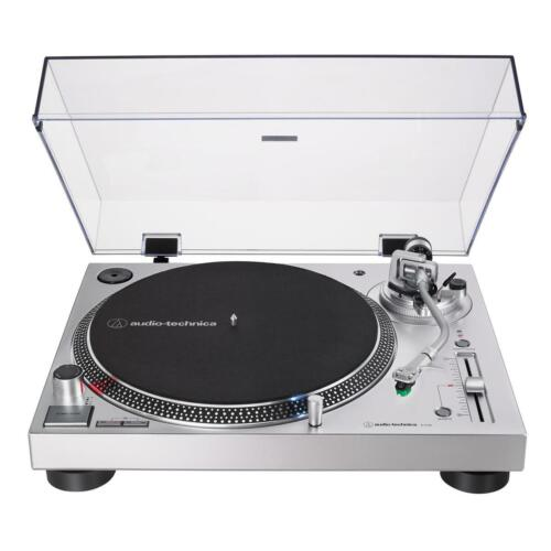 Audio-Technica AT-LP120XUSB Direct-Drive Turntable (Analog and USB), Silver