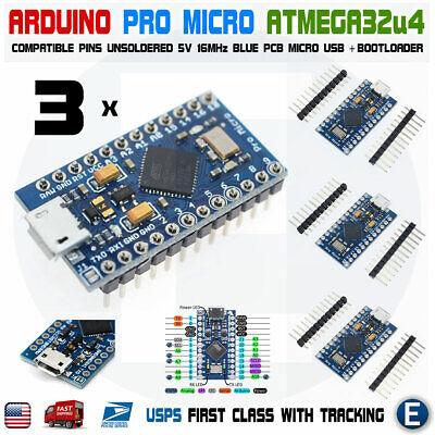 3pcs Arduino Pro Micro Atmega32u4 5v 16mhz Replace Atmega328 Pro Mini Leonardo