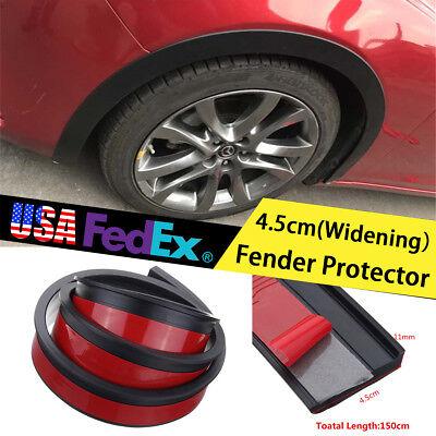 Fender Flares Rubber Guard Black Front + Rear Universal Flexible Car Body Kit