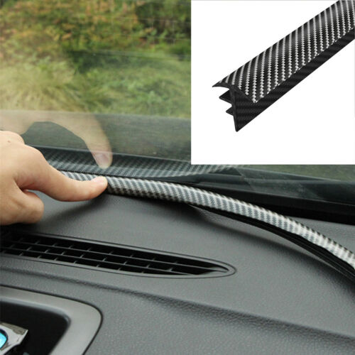 Car Parts - 1.6M Carbon Fiber Car Dashboard Gap Filling Sealing Strip Rubber Universal