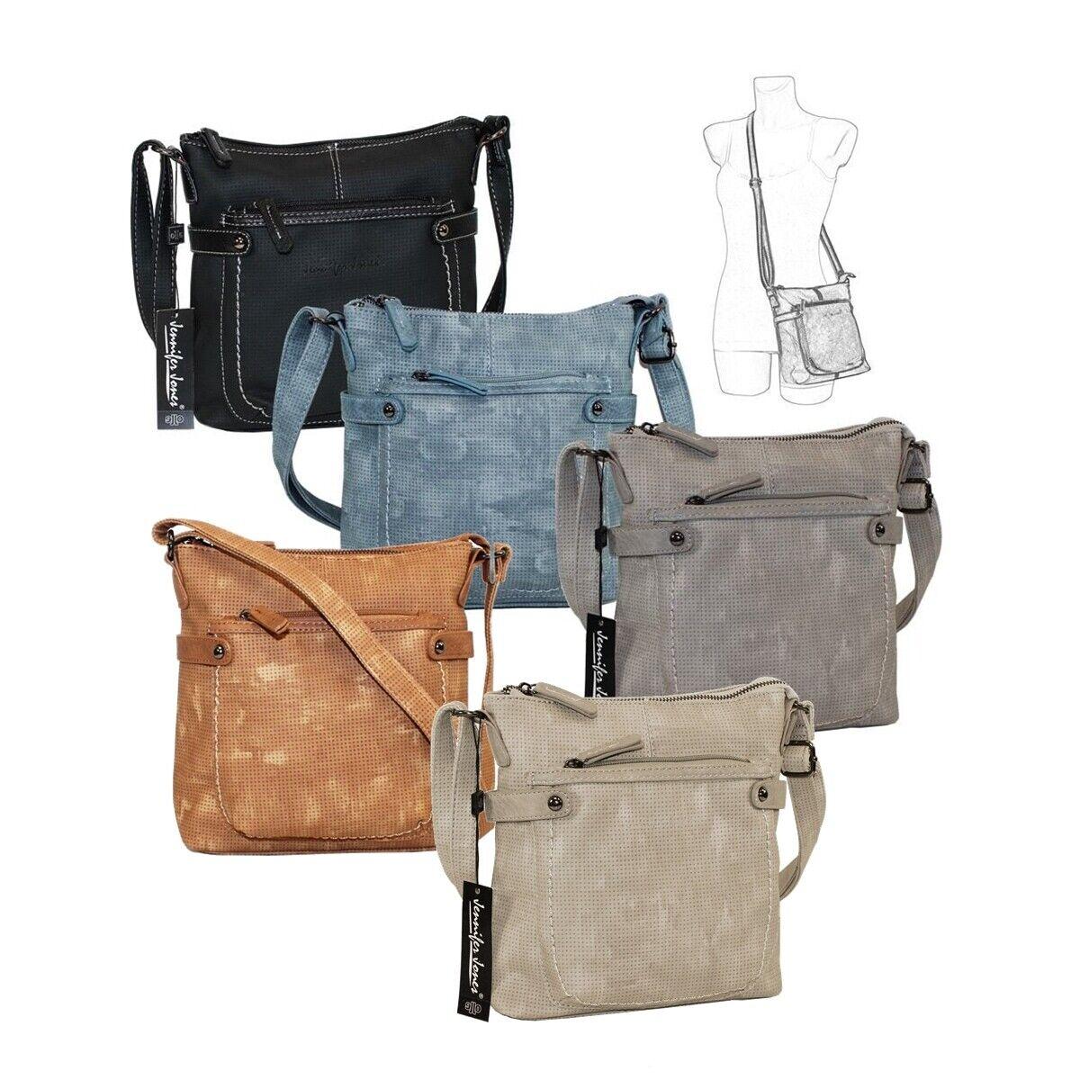 Jennifer Jones Umhängetasche Damen Handtasche Tasche Neapel unifarben Struktur