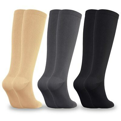 Women's Men's Compression Socks Running Medical 15-20 mmHG! 3 COLORS! BEST