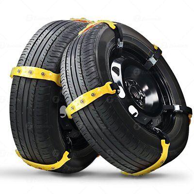 10Pcs Universal Winter Snow Mud Anti-skid Tire Chains Tendon Car Sedan SUV