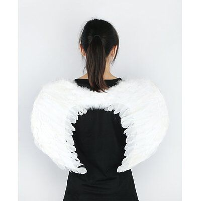 White Costume Feather Wings Fairy Angel cosplay props Christmas Fancy Dress halo - Christmas Fairy Costume