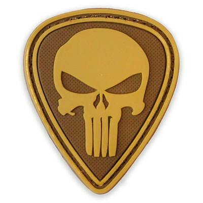 3D PVC Punisher Diamond Army Military Tactical Airsoft Morale Patch Coyote Tan