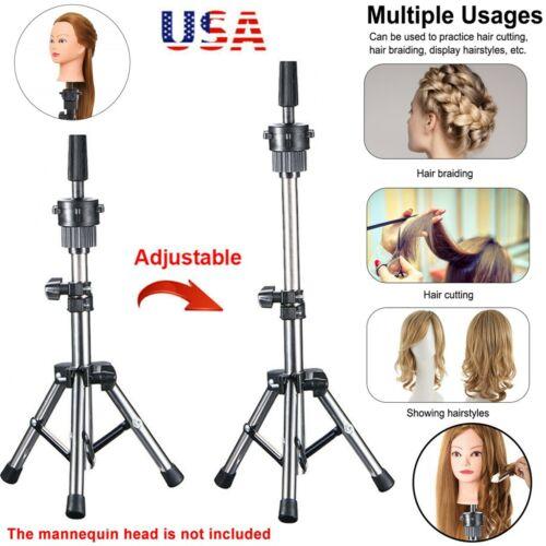 Wig Holder Stand Adjustable Tripod Manikin Mannequin Head Hairdressing Training Hair & Makeup Mannequins