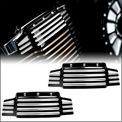 1Pair Black Valve Cover Accents For Victory Cross Country Kingpin 06-13 14 15 16