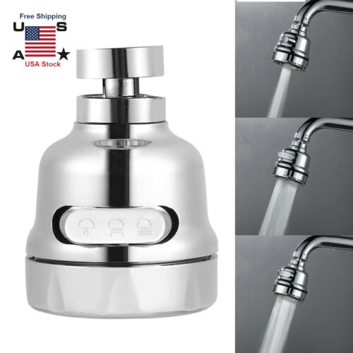 Moveable Kitchen Tap Head 360° Rotatable Faucet Water New Sprayer Saving U5O2