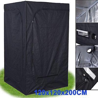 120x 120 x200 Indoor Grow Light Box Tent Aluminum lined Bud Dark Room Box
