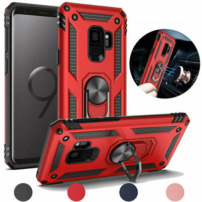 For Samsung Galaxy S9/Plus Magnetic Support Metal Ring Stand Defender Case Cover ()