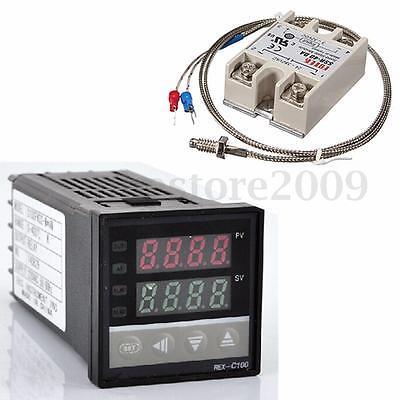 Digital 220v Pid Rex-c100 Temperature Controller Max.40a Ssr K Thermocouple