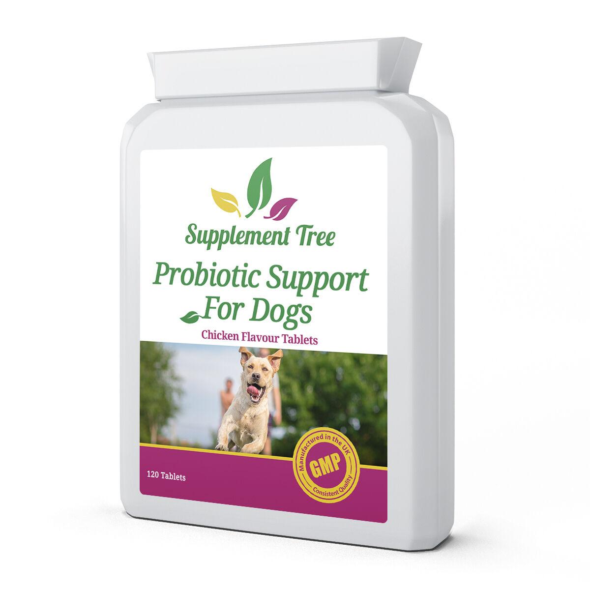 Probiotika für Hunde 120 Tabletten; Multi Strain für Haustiere mit Magen-Darm