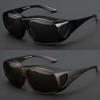 Polarized Large Sunglasses Cover Put Wear Fit Over Prescription Glasses (Drive Wear Sunglasses)