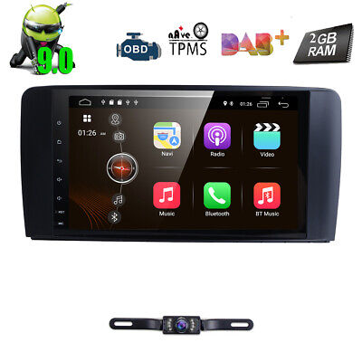 "9"" Android 9 DAB+Autoradio GPS Mercedes ML/GL-Klasse W164 X164 Navigation BT 4G"